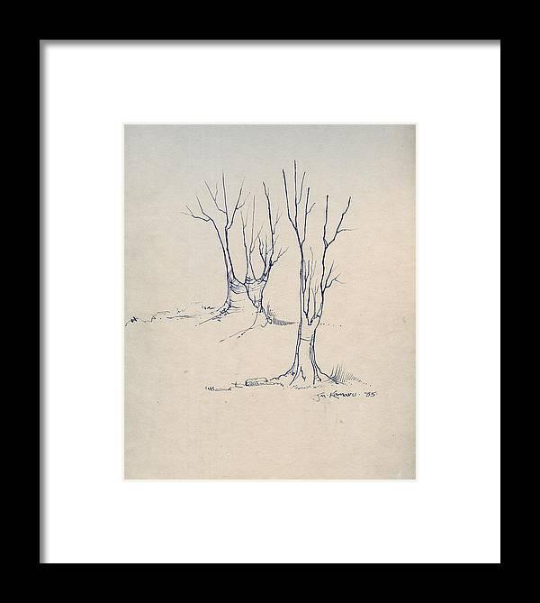 Joan Kamaru Framed Print featuring the drawing Sketch 4 by Joan Kamaru