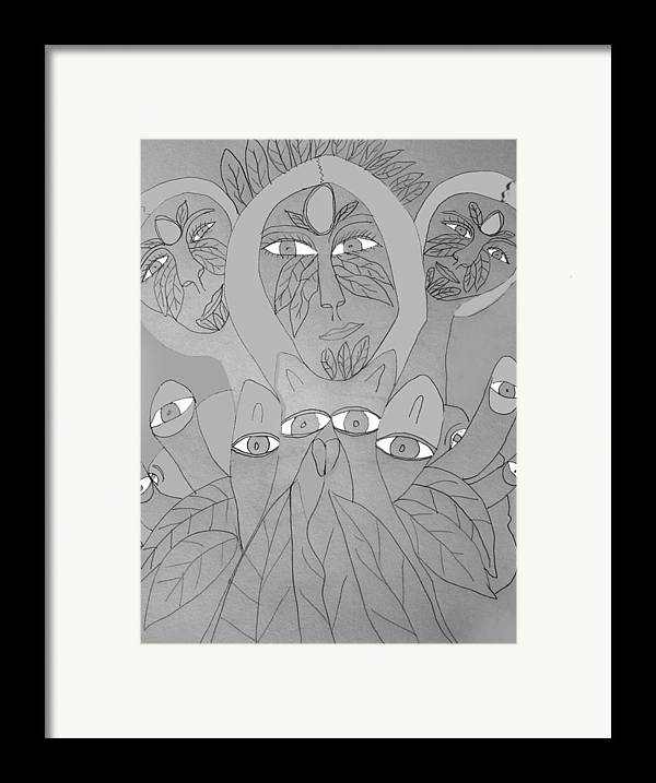 Framed Print featuring the drawing Sketch Idea For Wild Look by Betty Roberts