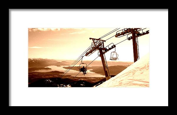 Ski Framed Print featuring the photograph Ski Lift by Robert Bissett