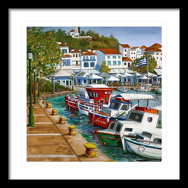 Skiathos Old Port by Yvonne Ayoub