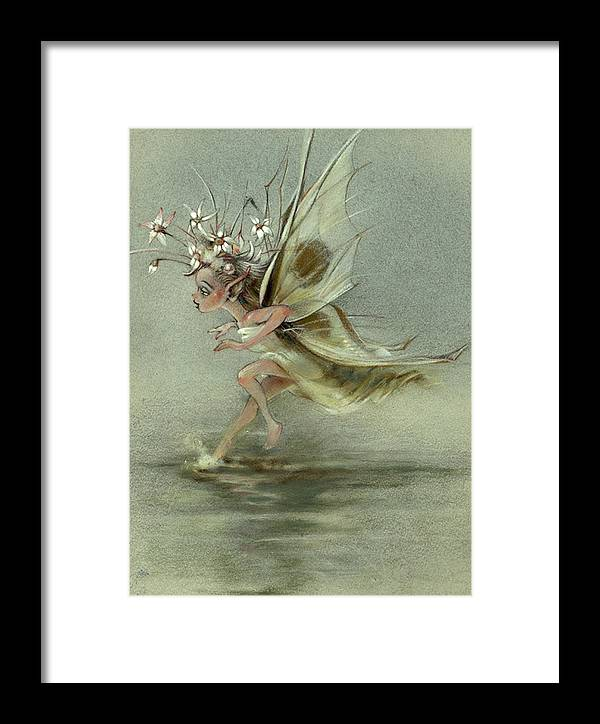 Fantasy Framed Print featuring the painting Skimmer by Patrick McClintock