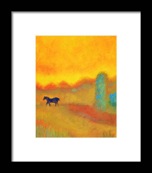 Impressionist Framed Print featuring the painting Skittish by Marla McPherson