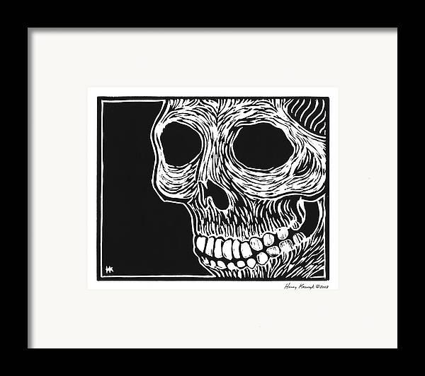 Krauzyk Framed Print featuring the print Skull Aware by Henry Krauzyk