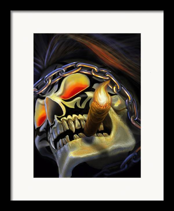 Skulls Framed Print featuring the digital art Skull Project by Pat Lewis