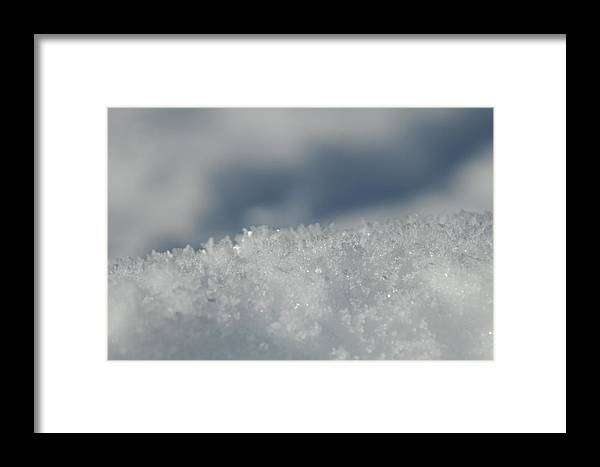 Ice Framed Print featuring the photograph Sky And Ice by Donna Blackhall