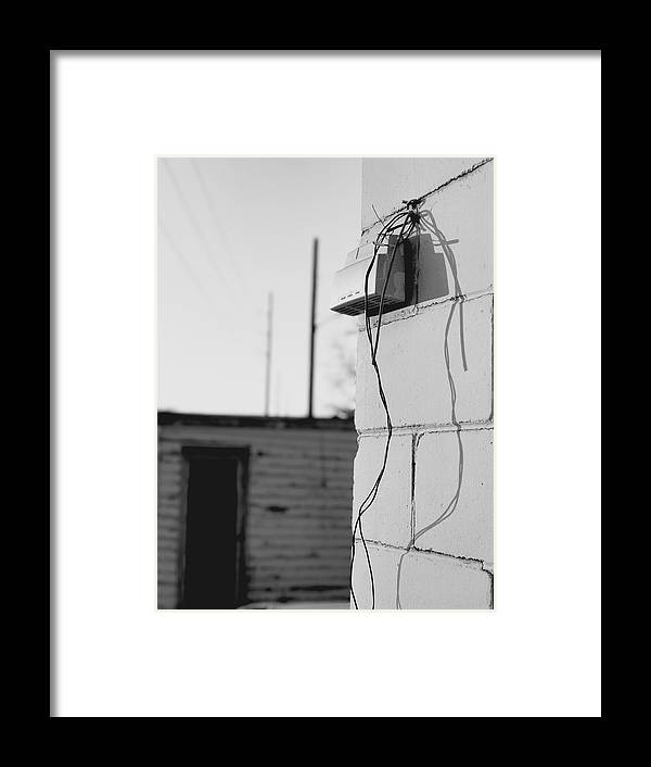 Abandoned Framed Print featuring the photograph Sky And Wire by Julian Grant