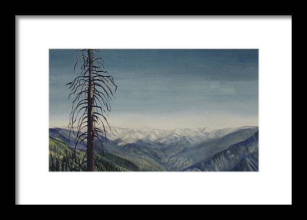 Sequoia National Park Framed Print featuring the painting Sky Blue by Howard Stroman