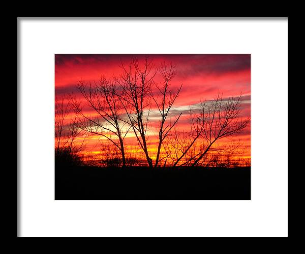 Sky Fire Framed Print featuring the photograph Sky Fire by Ron Moses
