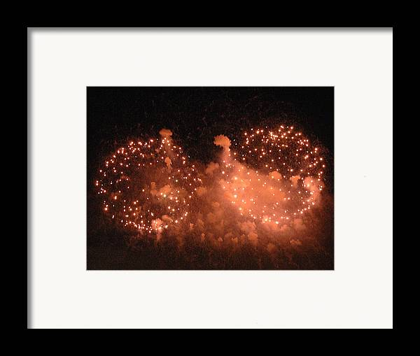 Fireworks Framed Print featuring the photograph Sky Flowers Ll by Dan Fulk