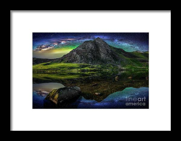 Tryfan Mountain Framed Print featuring the photograph Sky Full Of Stars by Adrian Evans
