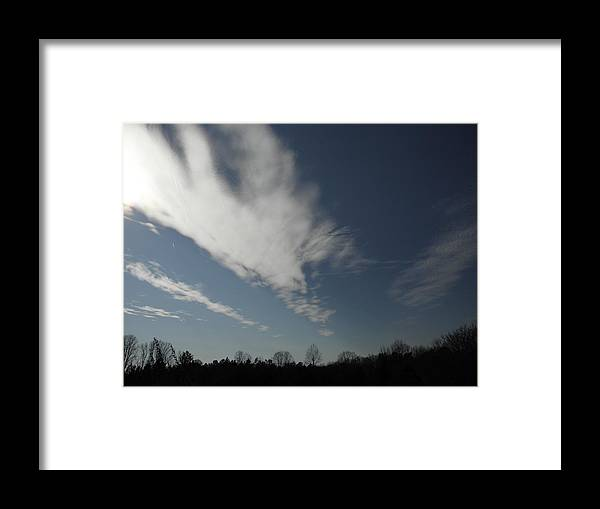 A Sky At Length Framed Print featuring the photograph Sky Stretch by Robin Coaker