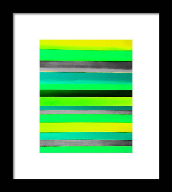 Stripes Framed Print featuring the painting Sky Stripes 9 by Barry Knauff