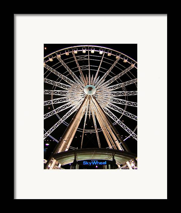 Sky Wheel Framed Print featuring the photograph Sky Wheel by Heather Weikel