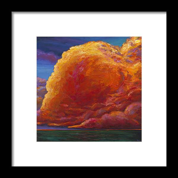 Sunset Framed Print featuring the painting Skydance by Johnathan Harris