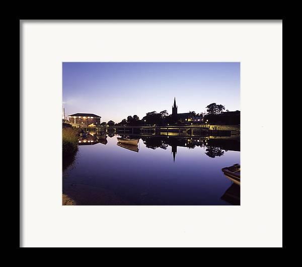 Dusk Framed Print featuring the photograph Skyline Over The R Garavogue, Sligo by The Irish Image Collection