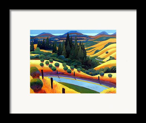 California Framed Print featuring the painting Skylline To The Sea Revisited by Gary Coleman
