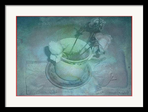 Framed Print featuring the digital art Skyworks 1 Rose by Friedl Aigner