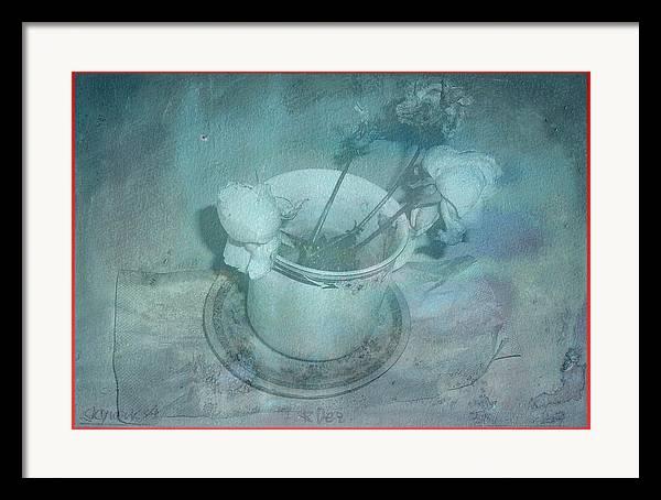 Skyworks Framed Print featuring the digital art Skyworks 4 Rose by Friedl Aigner