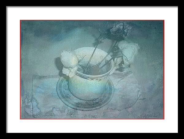 Skyworks Framed Print featuring the digital art Skyworks 5 Rose by Friedl Aigner