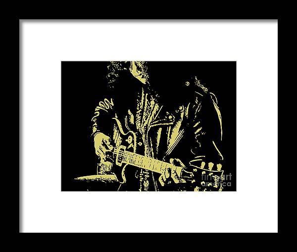 Slash Framed Print featuring the digital art Slash N.02 by Geek N Rock