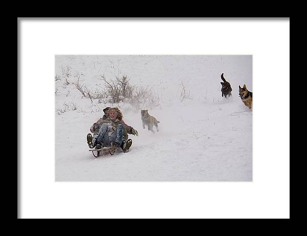 Leppert Framed Print featuring the photograph Sled Before The Dogs? by Cary Leppert