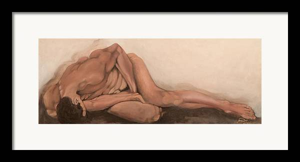 Figurative Framed Print featuring the painting Sleep by Jane Simpson