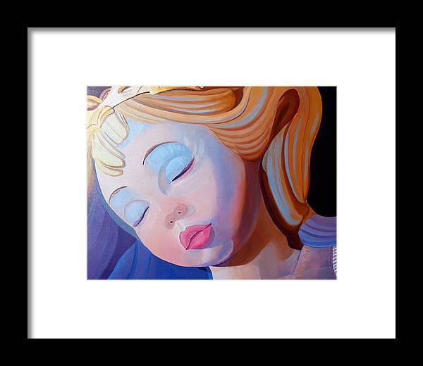 Doll Framed Print featuring the painting Sleeping Beauty by JoeRay Kelley