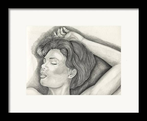 Sketches Framed Print featuring the painting Sleeping by Michael James Toomy