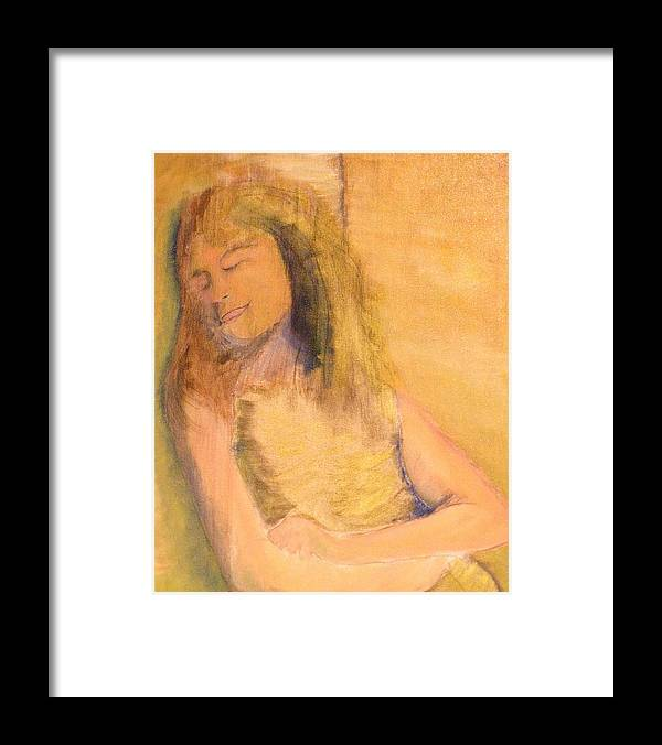 Framed Print featuring the painting Sleeping With Baby by J Bauer