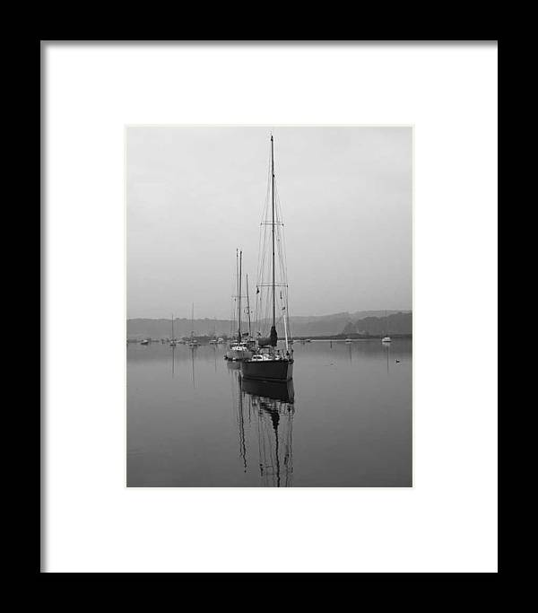 Boat Framed Print featuring the photograph Sleeping Yacht by Arthur Sa