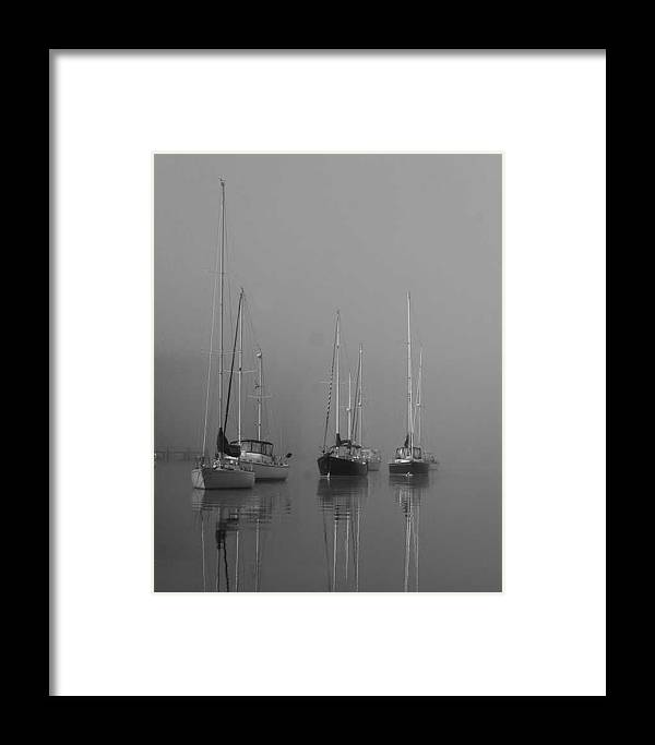 Boat Framed Print featuring the photograph Sleeping Yachts by Arthur Sa