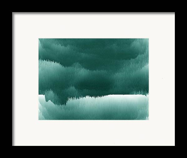 Night.river.sleep .reflection.darkness.water.layers. Framed Print featuring the digital art Sleeppinf River by Dr Loifer Vladimir