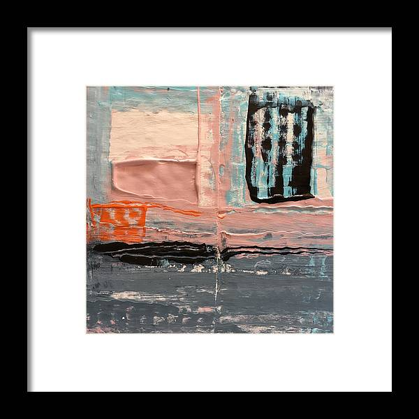 Abstract Framed Print featuring the painting Sleepwalk by Dave Love