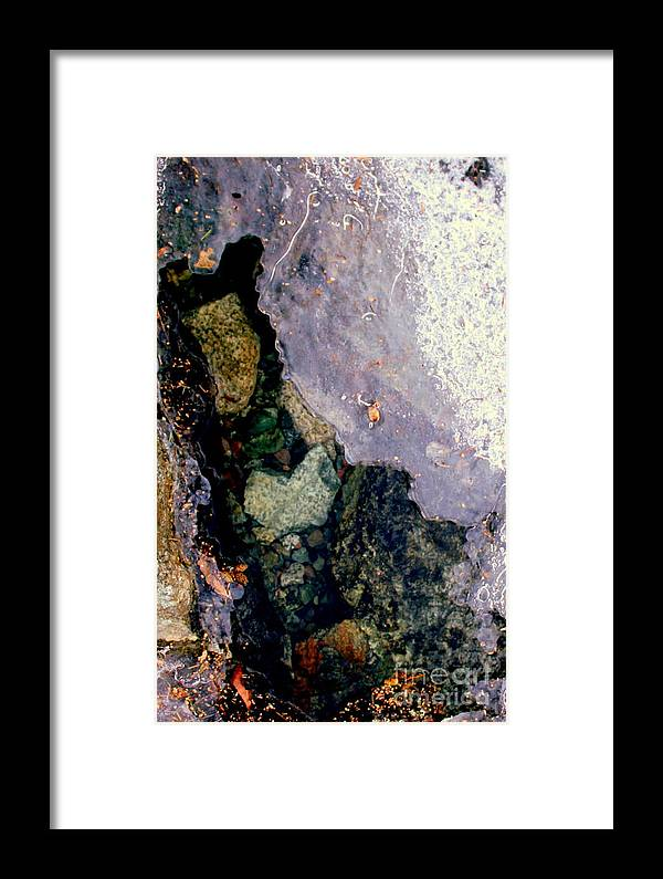 Water Framed Print featuring the photograph Slice Of Ice by Farzali Babekhan
