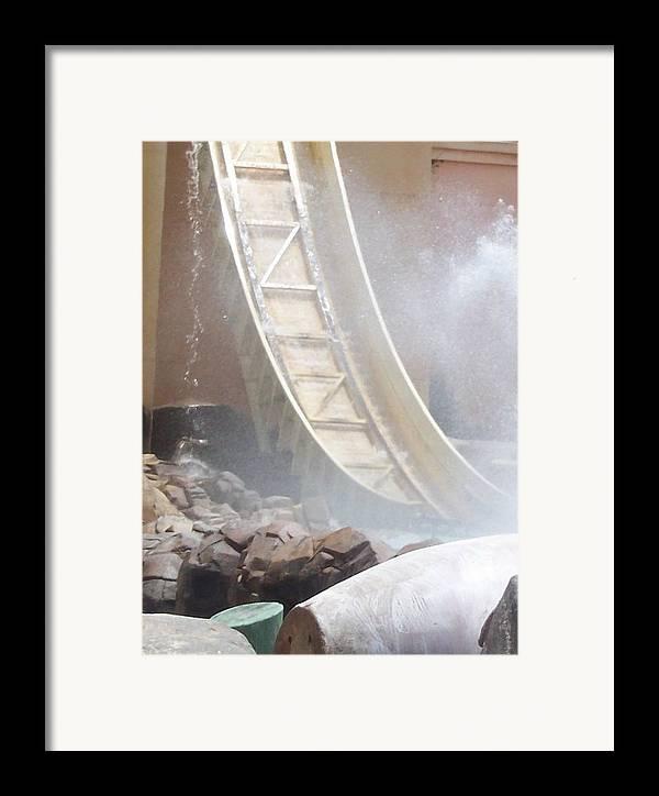Slide Framed Print featuring the photograph Slide Splash by Pharris Art