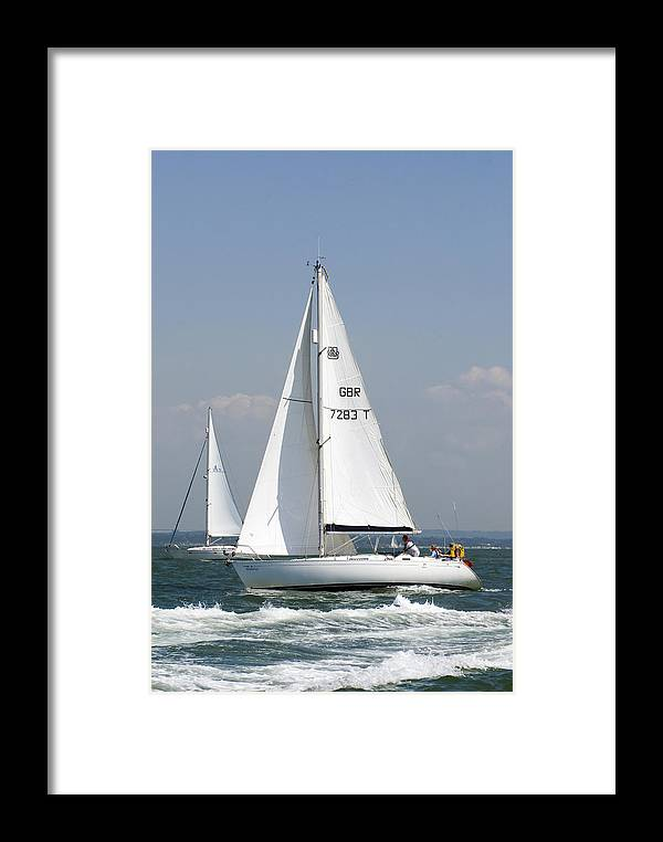 Yacht Framed Print featuring the photograph Slipaway by Gerry Walden