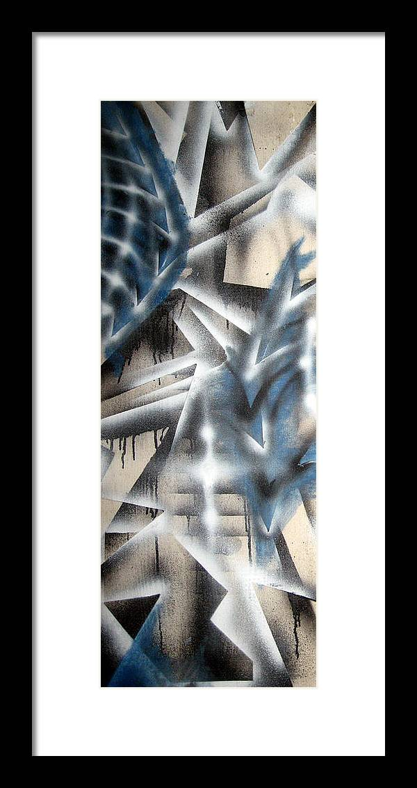 Abstract Framed Print featuring the painting Slipstream by Leigh Odom