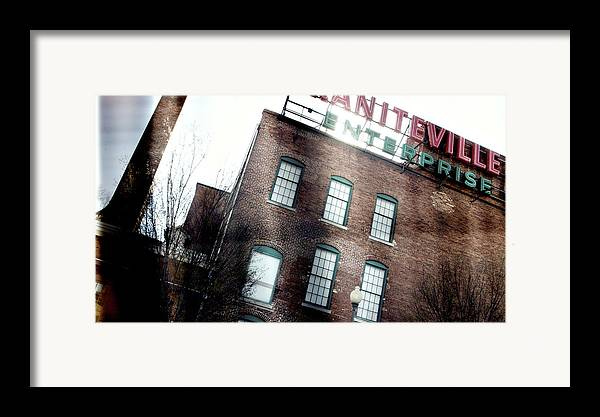 enterprise Mill Framed Print featuring the photograph Slit Scan 2 by Patrick Biestman