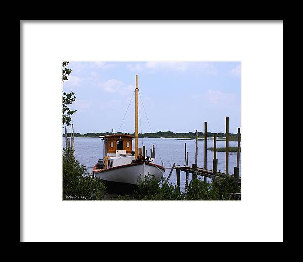 Cedar Key Framed Print featuring the photograph Sloop In Paradise - Debbie May - Photosbydm by Debbie May