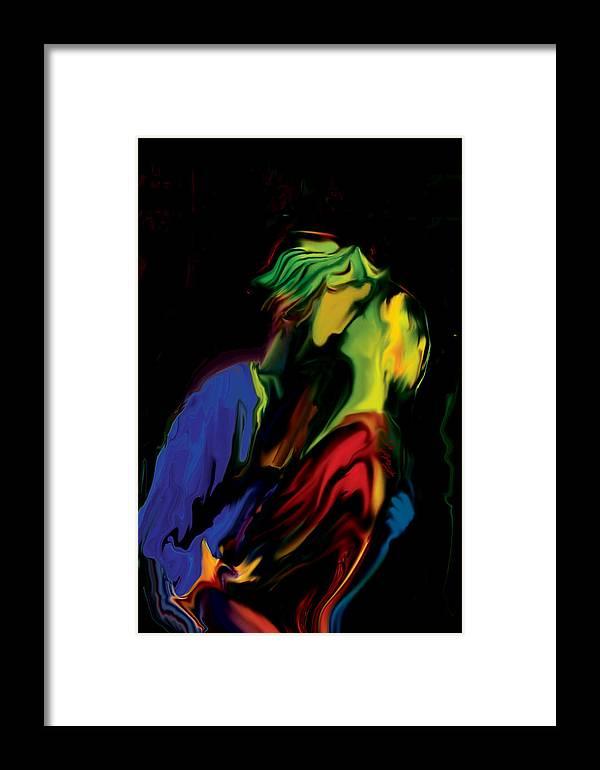 Black Framed Print featuring the digital art Slow Dance by Rabi Khan