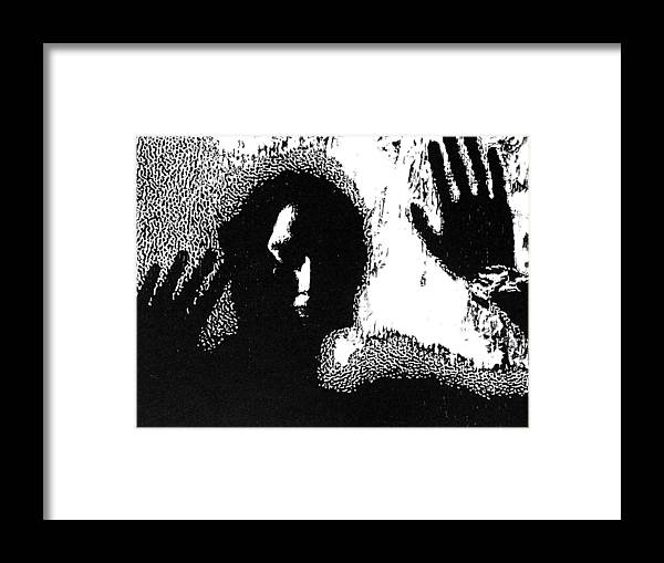 Black Framed Print featuring the painting Slow Death -- Unframed Hand-pulled Wood Cut by Lynn Evenson