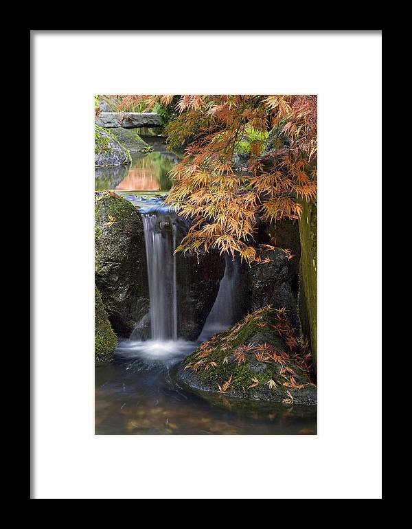Slow Motion Stream Framed Print featuring the photograph Slow Motion Stream by Wes and Dotty Weber