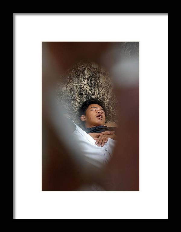 Jez C Self Framed Print featuring the photograph Slumber by Jez C Self