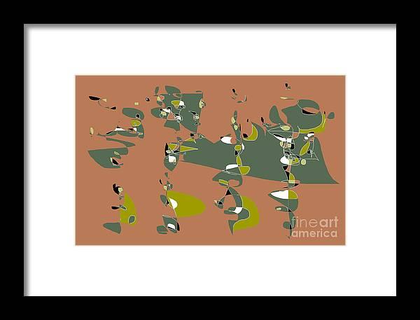 Abstract Cartoon Framed Print featuring the digital art Slumber Party 2 by Nancy Kane Chapman