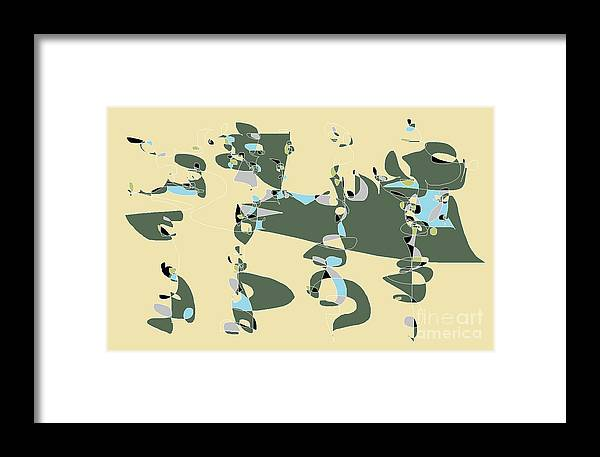 Abstract Cartoon Digital Drawing Framed Print featuring the digital art Slumber Party 3 by Nancy Kane Chapman