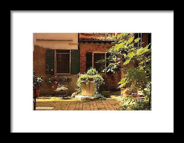 Venice Framed Print featuring the photograph Small Campo In Venice by Michael Henderson