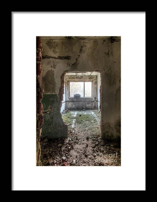 Derelict Framed Print featuring the photograph Small Cozy Room by Michal Boubin