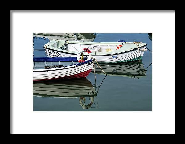 Skiffs Framed Print featuring the photograph Small Skiffs - Lyme Regis Harbour by Susie Peek