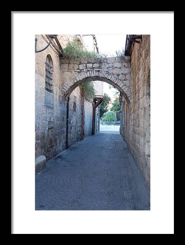 Jerusalem Framed Print featuring the photograph Small Street In Jerusalem by Susan Heller
