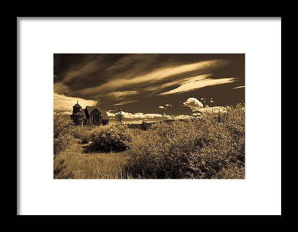 Church Framed Print featuring the photograph Small Town Church by Marilyn Hunt